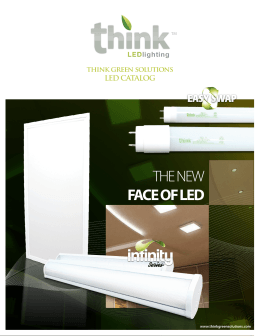 THE NEW FACE OF LED - Think Green Solutions