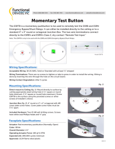 Momentary Test Button - Functional Devices, Inc.