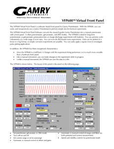 VFP600   Virtual Front Panel