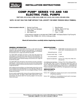 mallory 29450 ignition coil installation instructions mallory 4110 fuel pump electric installation instructions