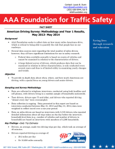 American Driving Survey - AAA Foundation for Traffic Safety