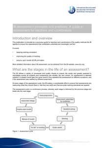 Read assessment guide for teachers and coordinators