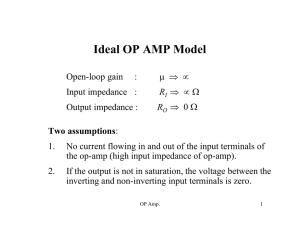 Ideal OP AMP Model V