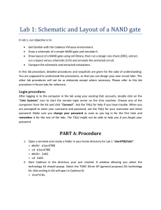 Lab 1: Schematic and Layout of a NAND gate