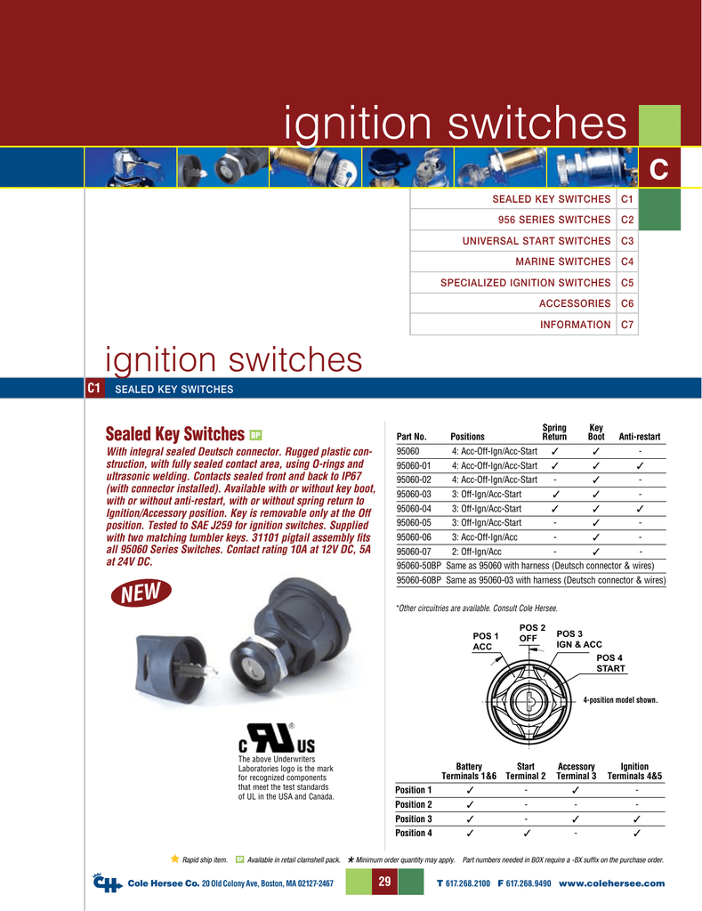 Cole Hersee 956 9100 Switch Wiring Diagram Not Lossing Solenoid Ignition Switches Gsi Uk Rh Studylib Net Battery Isolator