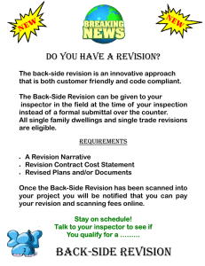 BACK-SIDE REVISION