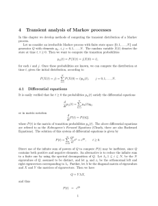 4 Transient analysis of Markov processes
