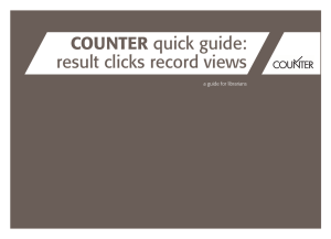 COUNTER quick guide: result clicks record views