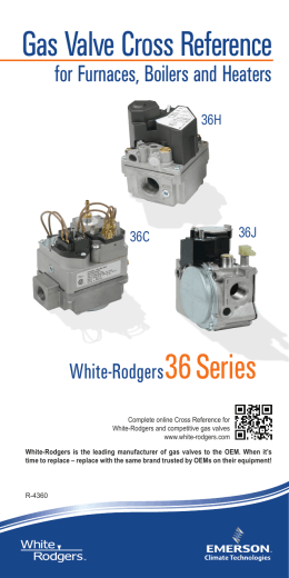 Gas Valve Cross Reference - Emerson Climate Technologies
