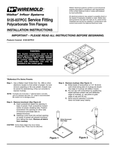 S125-837PCC Service Fitting Polycarbonate Trim Flanges