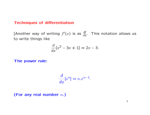 Techniques of differentiation [Another way of writing f (x) is as . This
