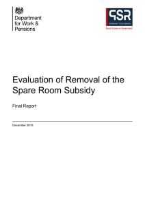 Evaluation of Removal of the Spare Room Subsidy
