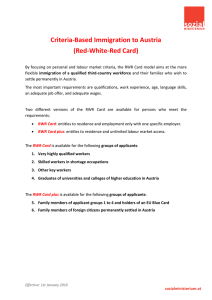 Criteria-Based Immigration to Austria (Red-White
