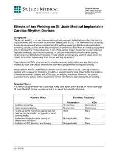 Effects of Arc Welding on St. Jude Medical Implantable Cardiac