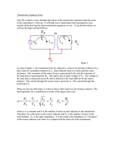 Transformer Equation Notes