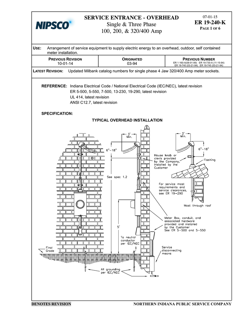 Service Entrance Milbank Meter Socket Wiring Diagram