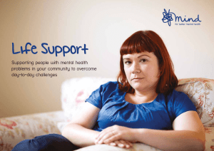Life Support: Supporting people with mental health problems