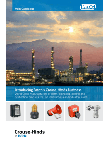 Introducing Eaton`s Crouse-Hinds Business