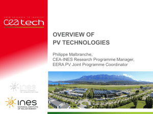Overview of PV modules