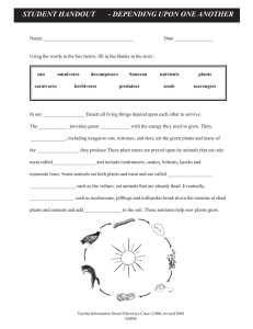 STUDENT HANDOUT - DEPENDING UPON ONE ANOTHER