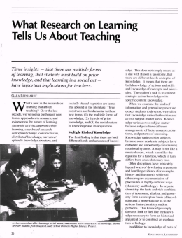 What Research on Learning Tells Us About Teaching