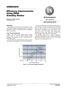 AND9038 - Efficiency Improvements Using DSN2 Schottky Diodes