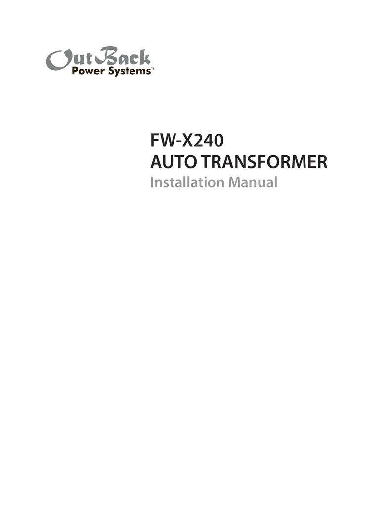 Outback Psx 240 Wiring Diagram Schematics Raptor 60 Amp Fw X240 Auto Transformer A Circuit