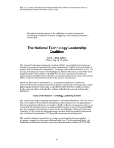 The National Technology Leadership Coalition