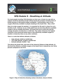 SPQ Module 9 – Breathing at Altitude