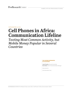 Cell Phones in Africa: Communication Lifeline