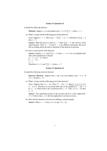 Section 3.1 Question 15 Consider the following theorem. Theorem