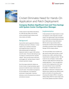 Cricket Eliminates Need for Hands