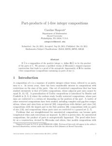 Part-products of 1-free integer compositions