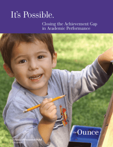 Closing the Achievement Gap - The Ounce of Prevention Fund