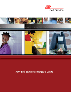 ADP Self Service Manager`s Guide