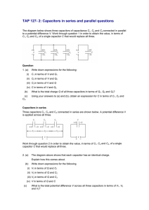 TAP 127- 2: Capacitors in series and parallel questions