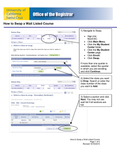 How to Swap a Wait Listed Course - Office of the Registrar