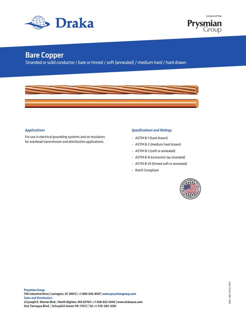 Bare Copper - Prysmian Group