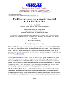 First Stage presents world premiere musical ELLA ENCHANTED