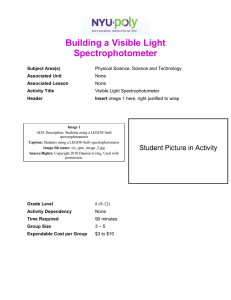 Building a Visible Light Spectrophotometer