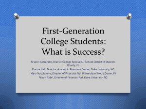 First-Generation College Students: What is