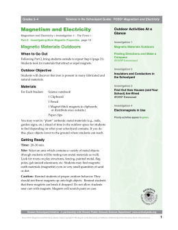 Magnetism and Electricity - Boston Schoolyard Initiative