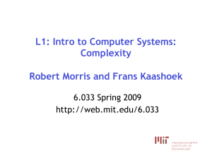 L1: Intro to Computer Systems