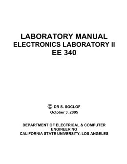 laboratory manual ee 340 - California State University, Los Angeles