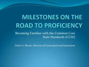 Becoming Familiar with the Common Core State Standards (CCSS)