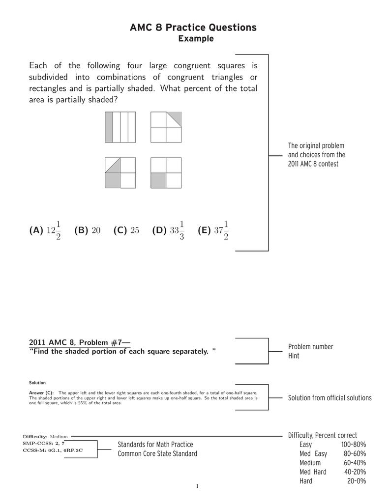 AMC 8 Practice Questions