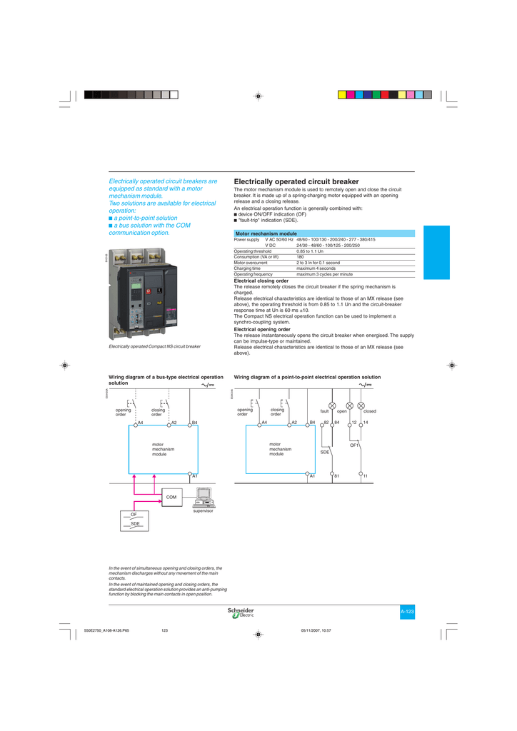event wiring diagram electrically operated circuit breaker  electrically operated circuit breaker