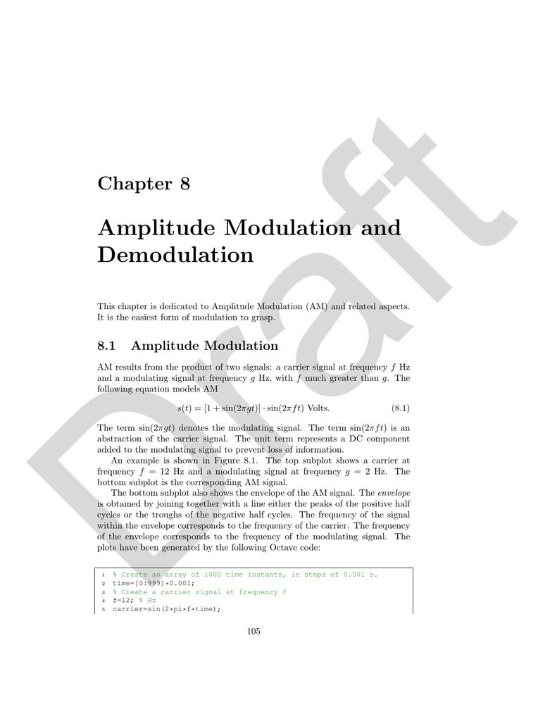 Amplitude Modulation And Demodulation Am Circuit 018166137 1 11b91e8e97fec503c6aac96eee5c3e8f