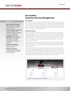 Customer Service Management Datasheet