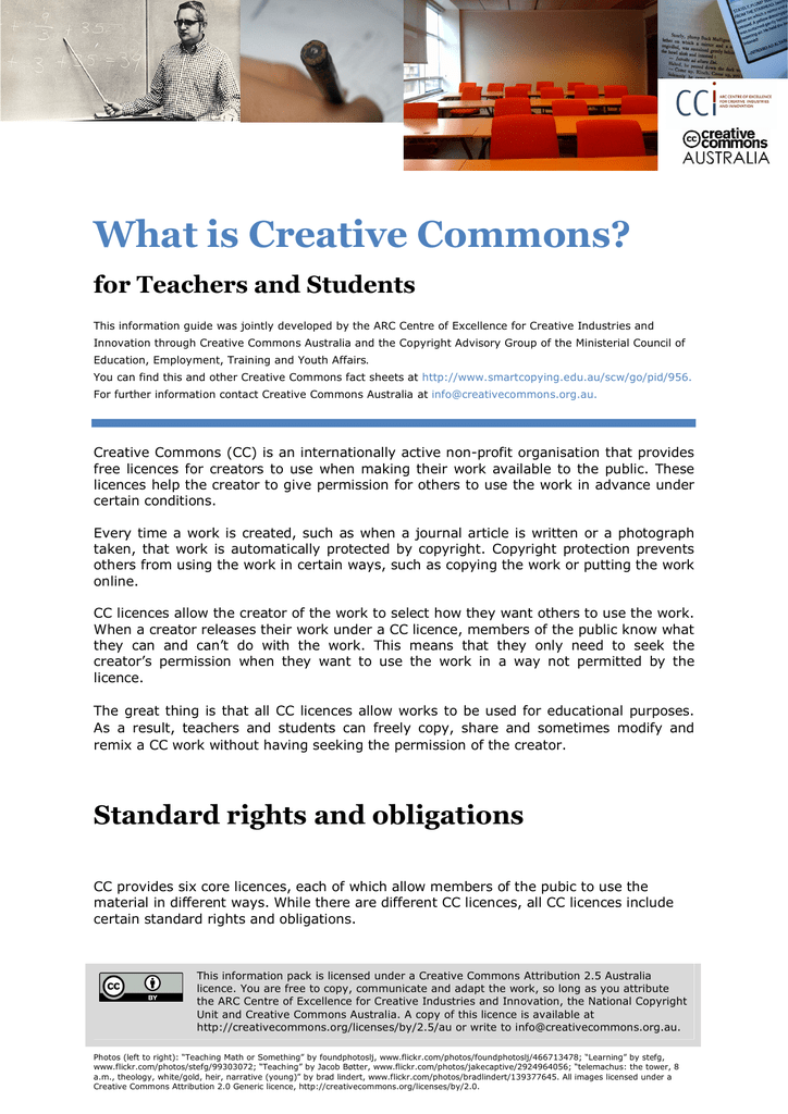 What Is Creative Commons Creative Commons Australia